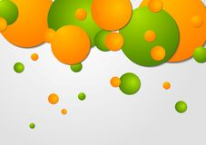 Bright circles vector design Royalty Free Stock Photography