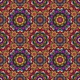 Bright circular geometric seamless kaleidoscope Stock Photos