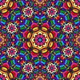 Bright circular seamless kaleidoscope pattern Stock Photo