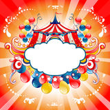Bright circus card Royalty Free Stock Images