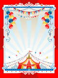 Bright circus frame. With space for text Stock Image
