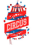 Bright circus poster royalty free illustration