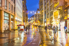 The bright city lights Royalty Free Stock Images