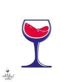 Bright classic vector goblet, stylish alcohol theme illustration Stock Photos