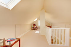 Bright clean attic in the small home. Royalty Free Stock Photo