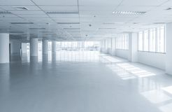 Bright clean empty office building floor. For interior background Stock Photos