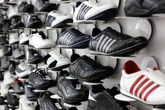 Bright and clean shoes store Royalty Free Stock Photo