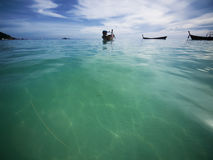 Bright clear turquoise sea Royalty Free Stock Photo