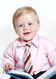 Bright closeup portrait of adorable baby Royalty Free Stock Photography