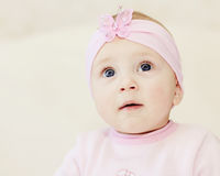 Bright closeup portrait of adorable baby Royalty Free Stock Images