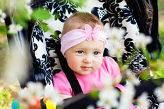 Bright closeup portrait of adorable baby Stock Photos