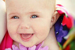 Bright closeup portrait of  baby Royalty Free Stock Images