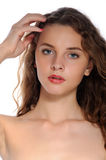 Bright closeup portrait of a beautiful girl Royalty Free Stock Photography