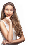 Bright closeup portrait picture Royalty Free Stock Photography