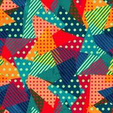 Bright cloth seamless pattern with grunge effect Stock Photo
