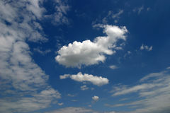 Bright cloud. One bright cloud on summer sky Stock Photography