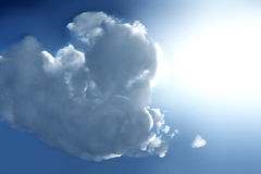 Bright cloud Stock Photography