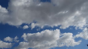 Bright Clouds stock footage