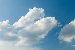 Bright cloudy sky background, blue atmosphere, ozone, oxygen, heaven.  royalty free stock images