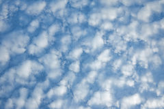 Bright cloudy on very blue sky Stock Photo