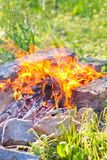 Bright coals Royalty Free Stock Image