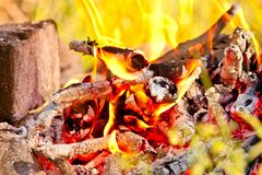 Bright coals Stock Photography