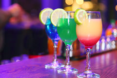 A bright cocktail. A cocktails for a party, holiday dinner, a romantic Stock Image