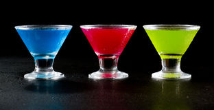 Bright cocktails Royalty Free Stock Images