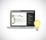 Bright coding idea concept illustration Stock Photography