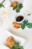 Bright coffee break theme. Lovely home concept, coffee break Stock Photos