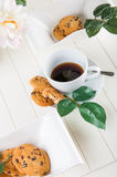 Bright coffee break theme. Lovely home concept, coffee break Royalty Free Stock Images