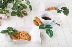 Bright coffee break theme Stock Images