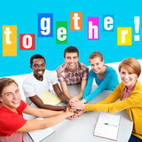 Bright collage of international group of students Stock Image