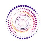 Bright color abstract background in minimalist style made from colorful circles. Business concept for cover decoration. Of brochure, flyer or report Royalty Free Stock Photography