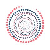 Bright color abstract background in minimalist style made from colorful circles. Business concept for cover decoration. Of brochure, flyer or report stock illustration