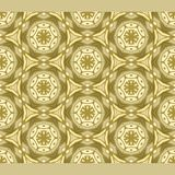 Bright color abstract golden hexagonal geometric pattern, vector seamless. Modern bright color abstract Stock Image