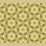 Bright color abstract golden hexagonal geometric pattern, vector seamless. Modern bright color abstract Royalty Free Stock Image