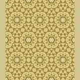 Bright color abstract hexagonal geometric pattern, vector seamless in gold. Modern bright color abstract Royalty Free Stock Image