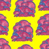 Bright color background of fantastic mushrooms Royalty Free Stock Photos