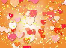 Bright color background  with hearts Stock Photos