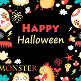 Bright color background with monsters Stock Images