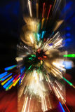Bright color backgrounds explosion effect of zoom blur lights Stock Photos