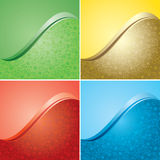 Bright vector backgrounds with floral texture - set Royalty Free Stock Image