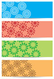 Bright vector backgrounds with geometric decor Stock Photography