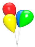 Bright color balloons Stock Images