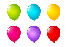 Bright color balloons on white background Royalty Free Stock Images