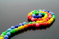 Bright color beads Stock Images