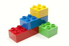 Bright Color Building Blocks Isolated on White Royalty Free Stock Photo