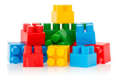 Bright color building blocks Stock Photography