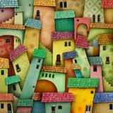 Bright color city Stock Image